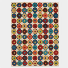 Винтажный ковер с абстрактным рисунком, разноцветный круглый ковер, ковры для гостиной, спальни, Нескользящие и против морщин(Китай)