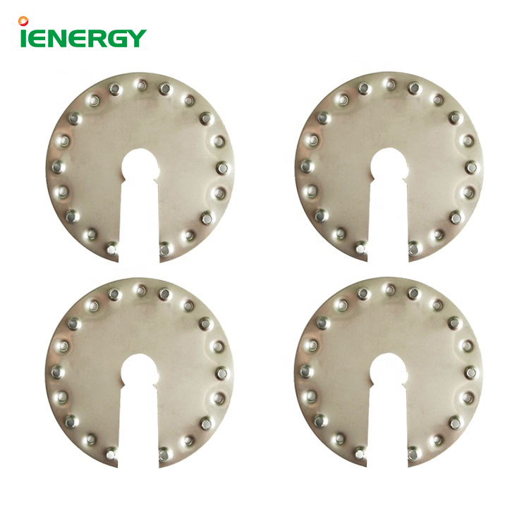 Stainless steel washer earthing grounding cover clips for solar mounting