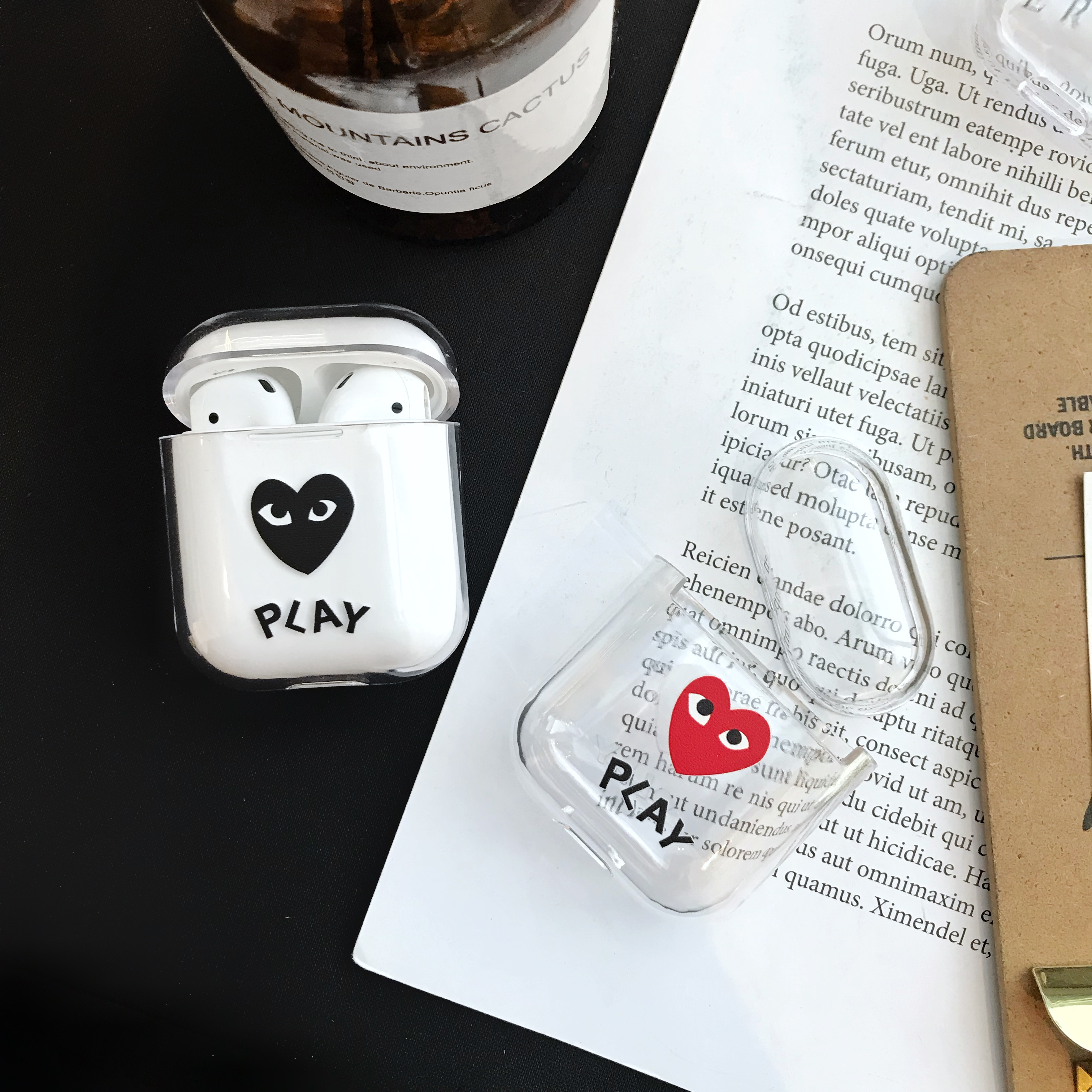 Lovely Fruit Custom Design Clear Plastic Cartoon Transparent Airpods 2 Case