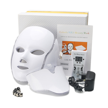 OEM 7 Colors LED Mask Red Light Therapy Beauty Instrument Acne whitening Rejuvenation Ledmask Mascaras Faciales LED Pdt Machine