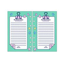 Чехол для ноутбука Kawaii, ПВХ, свободный лист, A5/A6, радуга, Руководство DIY, прозрачная катушка, Sprial, книги, милая программа, 2021, дневник, планер(Китай)