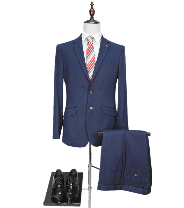 men's TR navy slim fit ready <strong>suits</strong> male <strong>formal</strong> navy two piece clothing business clothing polyester tuxedo