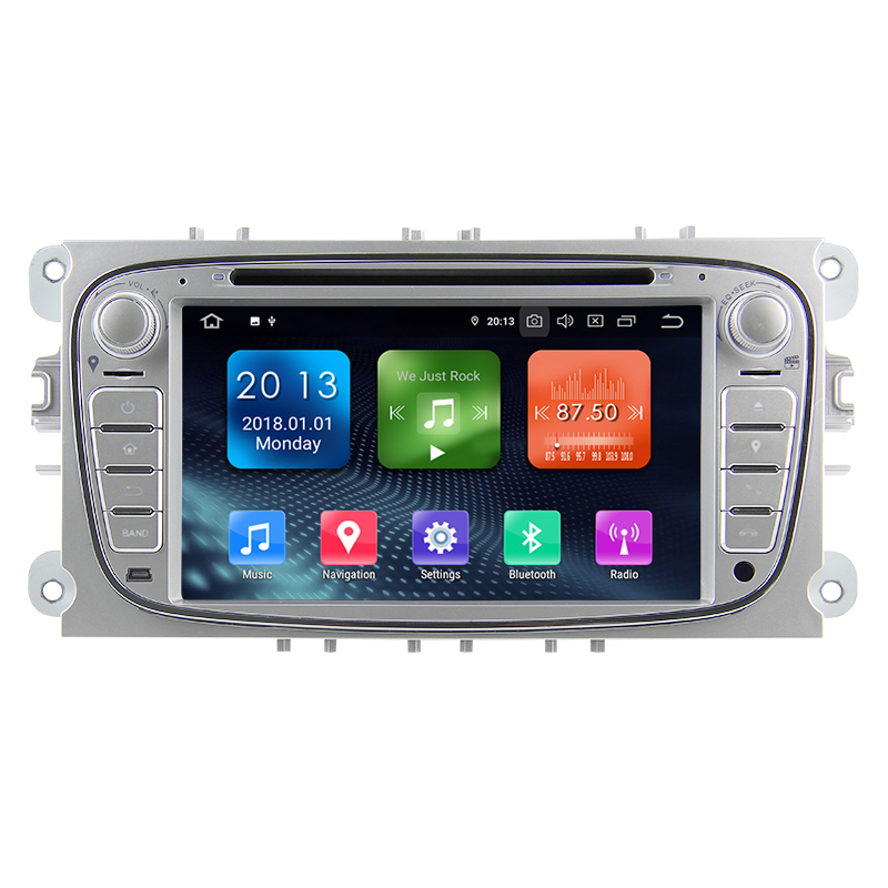 "3G WiFi 7 ""2Din Touch Screen Quad-core Android 9.0 Speciale Auto DVD Speler GPS Navigatie Radio voor FO RD S-Max, c-Max, Galaxy"