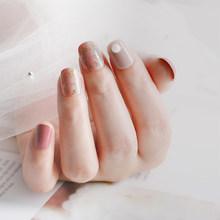 Женские Элегантные винно-красные Уникальные цвета, красивые накладные ногти, Короткие накладные ногти для девушек, полное покрытие, наклад...(Китай)