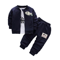 Hot sells sports suits boys sets cute printed 2019 wholesales kids clothes baby boy autumn clothing sets
