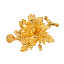00132 xuping produttore spilla a forma di fiore, unico 24k placcato oro <span class=keywords><strong>spille</strong></span>