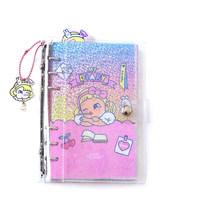 Дневник на спирали A6 Binder, прозрачный корейский блокнот с 6 кольцами для девочек(Китай)