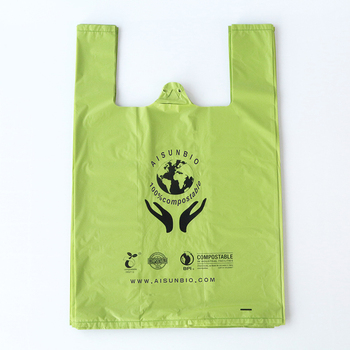 New design 100% biodegradable printed plastic bags for sale
