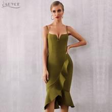 Женское Бандажное платье с оборками Adyce, Клубное вечернее платье в стиле знаменитостей, без рукавов, на бретельках, лето 2020(Китай)