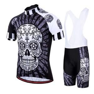 NGT custom Funny Cycling Jersey Set Summer Cycling Clothing Suit Skull MTB Mountain Bike Clothing Racing Bicycle Clothes Suit