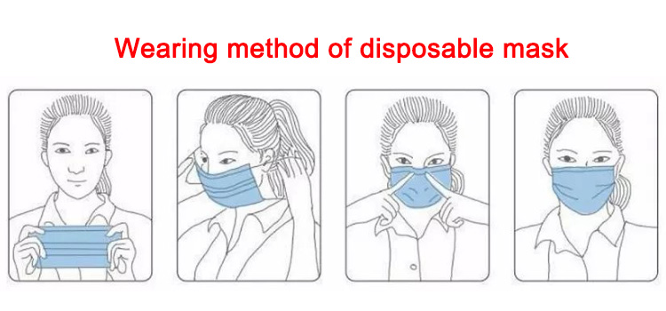 Anti Coronavirus High Quality 3 ply Disposable Face Mask Disposable Face Shied 3-ply With Earloop