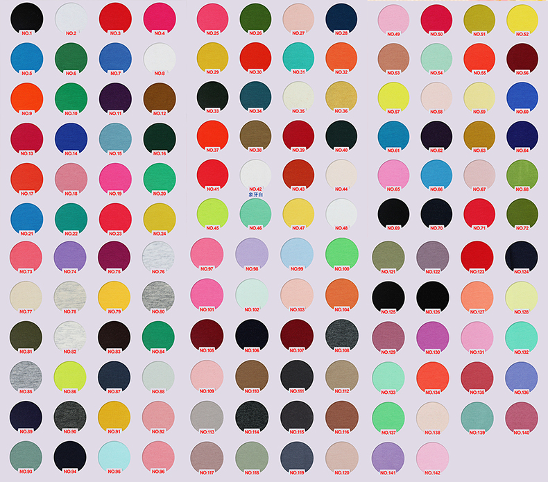 Read to ship Knit 95%Cotton 5%Spandex cotton lycra single jersey fabric with high stretchy 240gsm