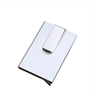 Aluminium Metal Wallet Rfid Blocking Card Holder wallet With stainless steel Money Clip