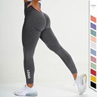 Wear Gym Women's Women 2020 Private Label Smile Fitness Yoga Wear Leggings Cellulite Seamless Lift Gym Leggings Women's Yoga Scrunch Butt Leggings