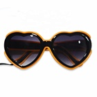 High quality Halloween Fasion Party Sunglasses 10 colors cosplay party glowing heart shape glasses