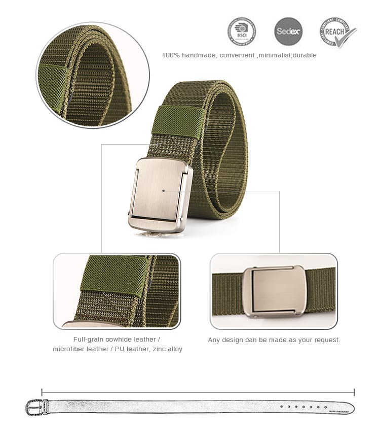 Braided Elastic Belts Nylon Designer Belt Canvas Military Tactical Web Wide Waist Elastic Man Sport Belt With Buckle