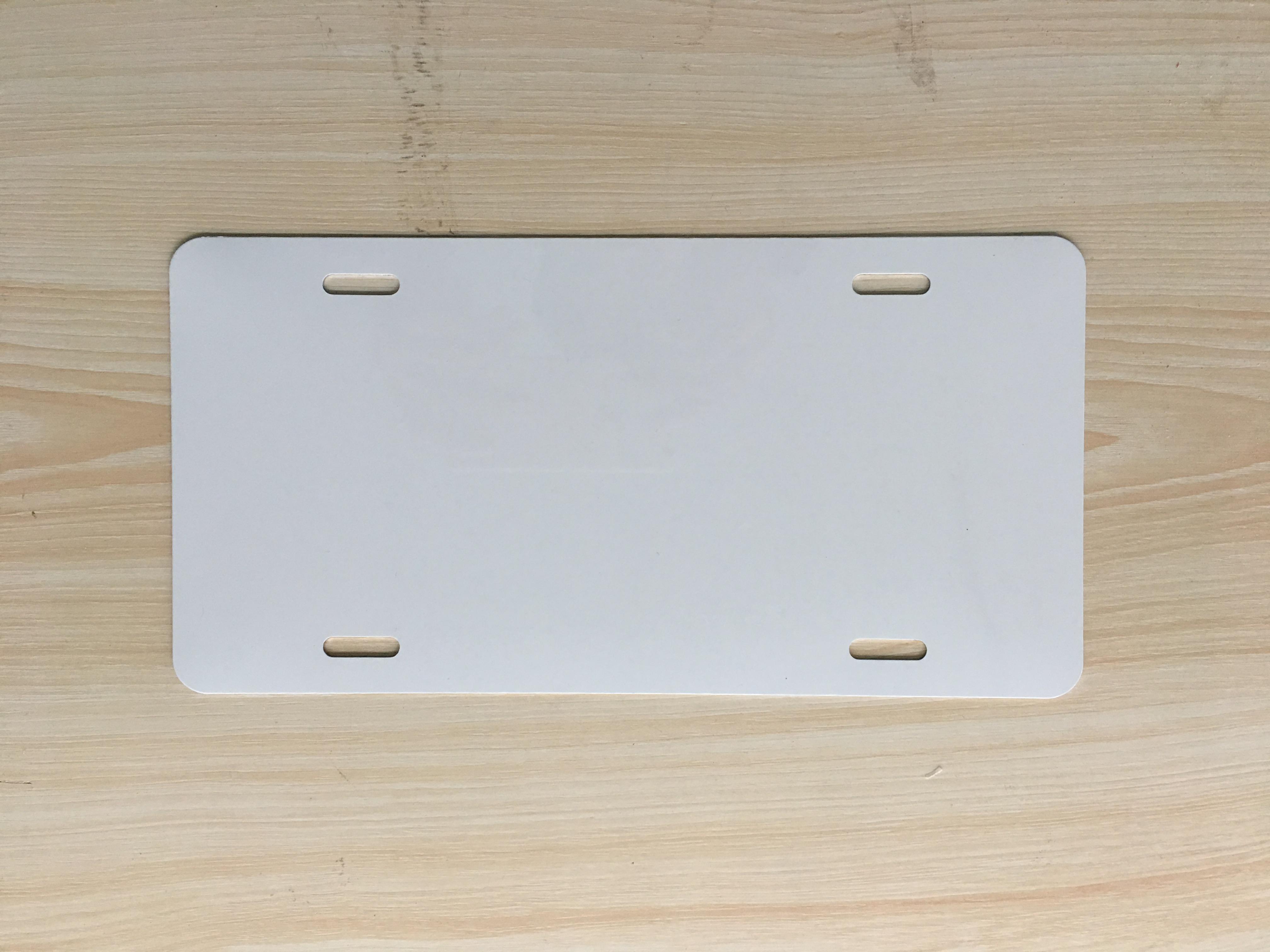 Wholesale 6'*12' Blank License Plate Blank Number Plate Sublimation Blank License Plate