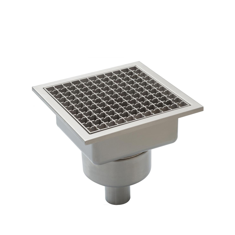 Catering Kitchen Open Channel Floor Drain With Residue Stainer and Grating High Quality Good Price