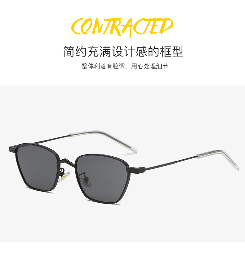 THREE HIPPOS 2020 womens glasses Metal Small frame design Sunglasses 88040 UV400  Gradient color Shades aesthetic Sun Glasses