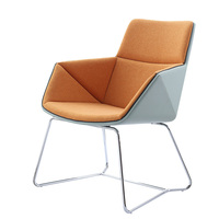 Chinses confortable hotel or office reception single seater fabric leisure chairs with arm living modern room metal frame