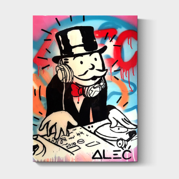 Custom framed Alec Monopoly wall pop art poster print on canvas
