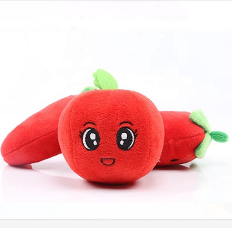 Pet Dog Squeaky Plush Stuffed Toy Frutas E Legumes