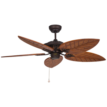Wholesale Price Luxury Decorative Antique Wooden Blade Ceiling Fan With Tiffany Lamp