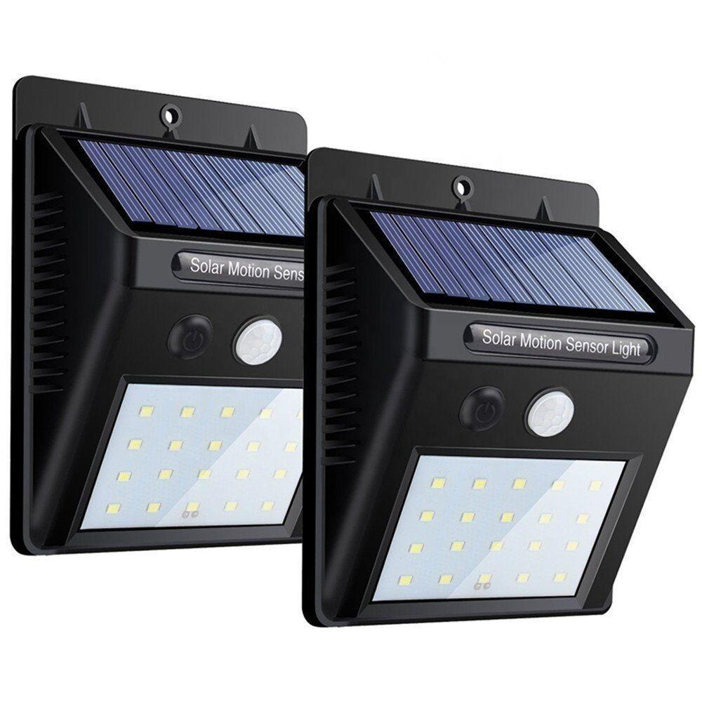 屋外の壁太陽エネルギーソーラーフェンスモーションセンサーホームガーデン Led ソーラーライト