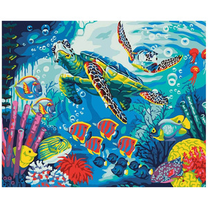 CHENISTORY 991295DZ DIY Painting By Numbers Kit Marine life paint by number canvas painting calligraphy Modern Home Wall Art