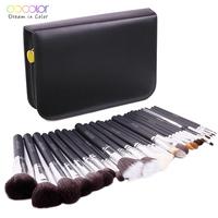 Wholesale high quality Docolor goat hair 29pcs makeup brush set