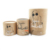 Cylinder paper cardboard packaging tube with peel off airtight lid for spice protein powder or tea