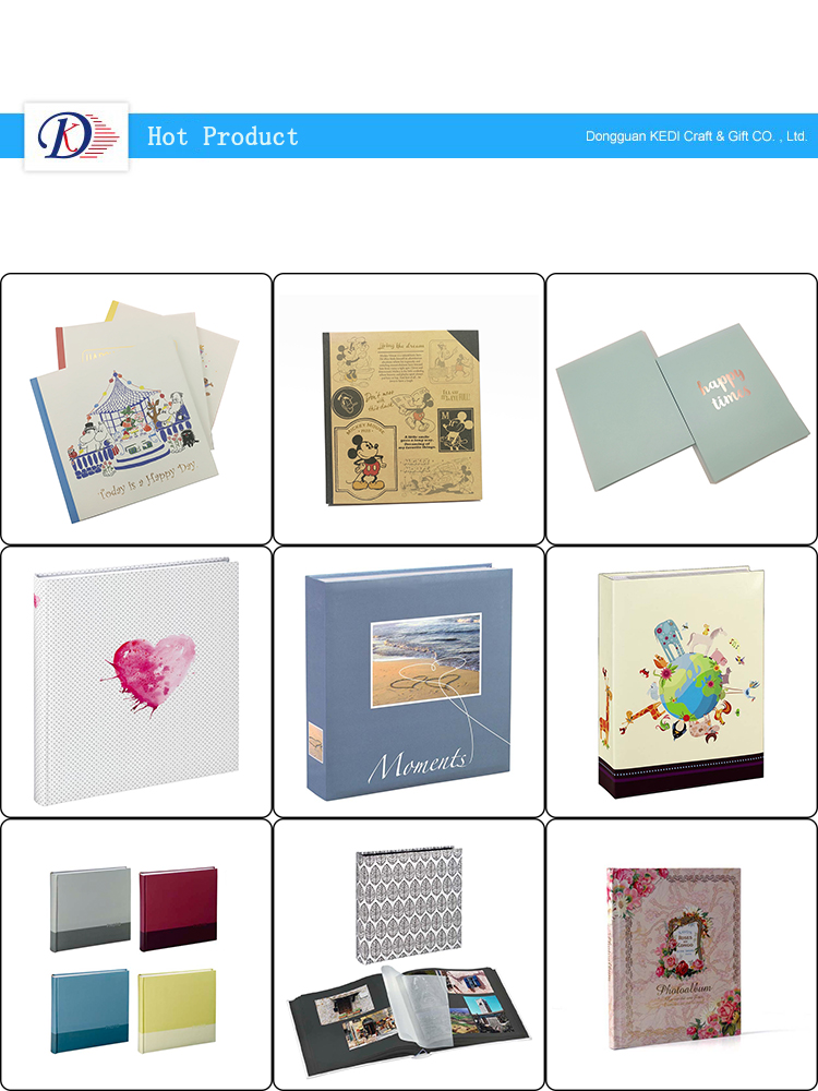 Hot Sale Coated Paper Cover Traditional Dry Mount Black Paper Insert Photo Album DIY