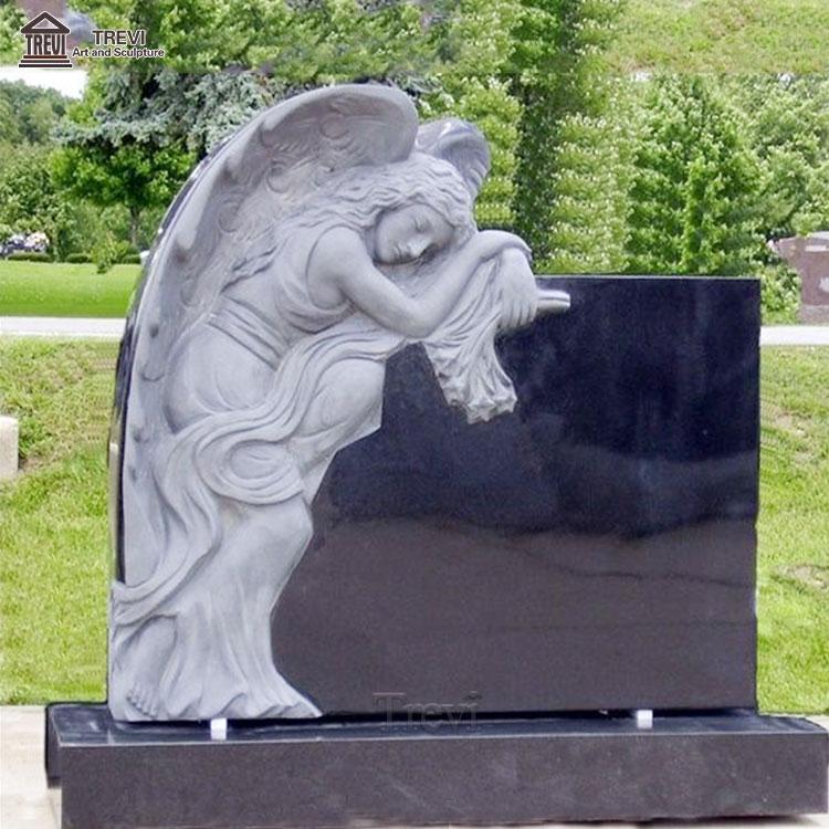Tombstones Bahama Blue Granite Black Tombstone Sculpture For Sale