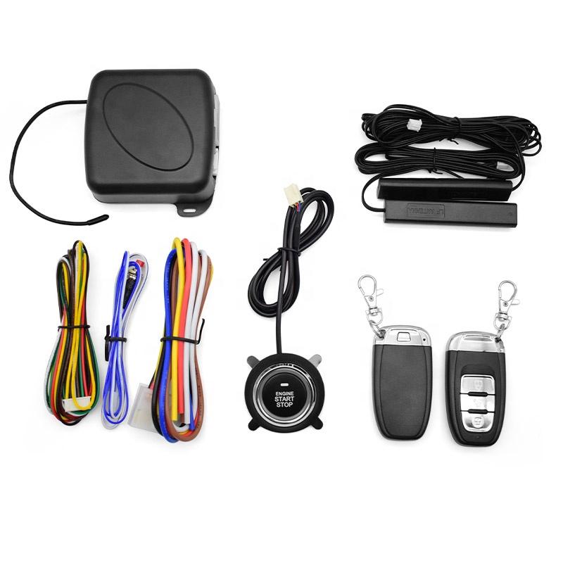 Sistema de alarme de carro sistema de entrada sem chave central botão de bloqueio do motor chave inteligente sistema de entrada sem chave de partida
