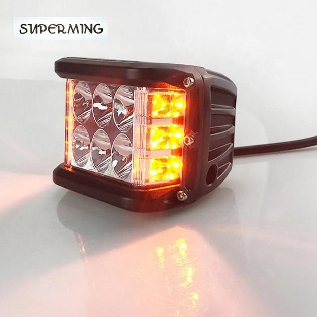 12v 24v led flashing light fog light strobe for car