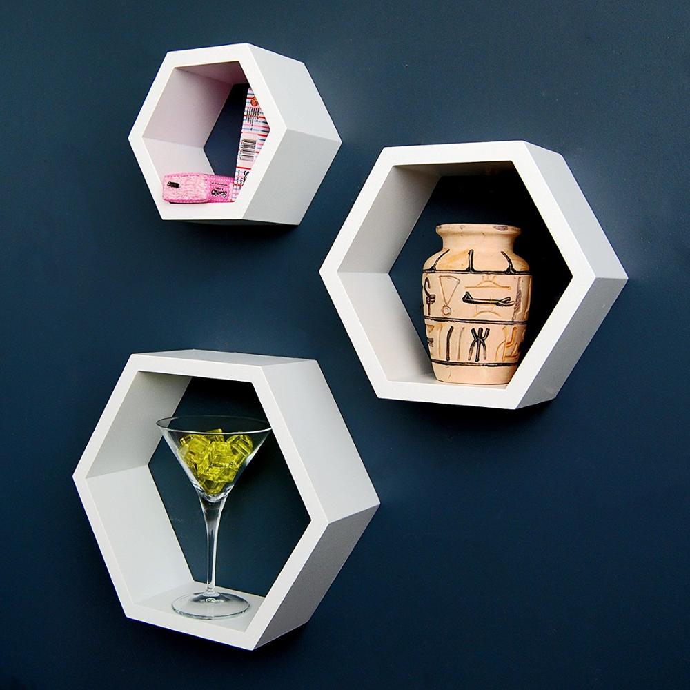 Floating Cube Wall Mount Wooden Shelf MDF wood wall mounted shelf