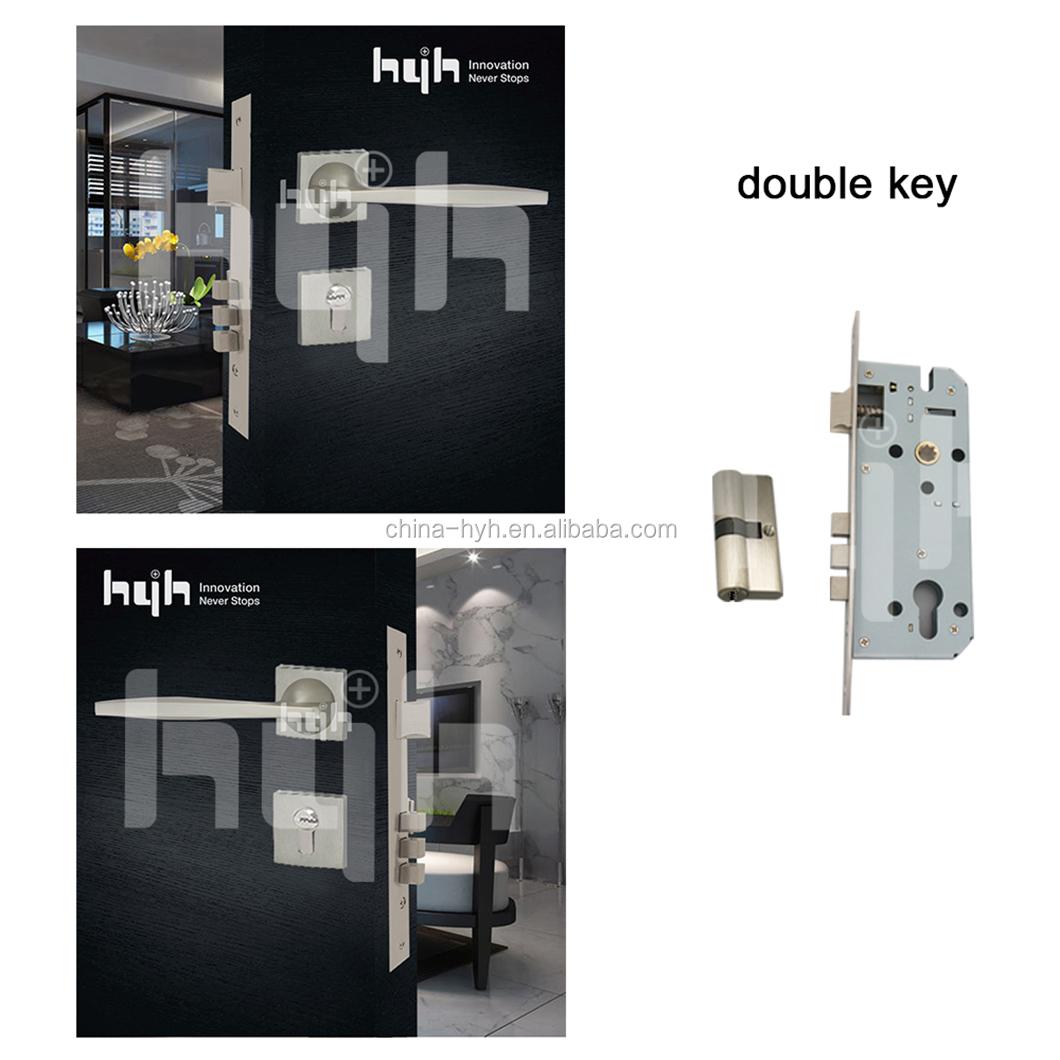 American Simple Style Zinc Alloy Bedroom Door Lock Handle