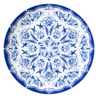 Wholesale western ancient serving plates blue dinner set wedding ceramic plates