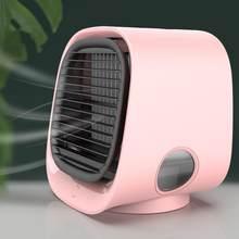 3 цвета, светильник, мини портативный кондиционер, кондиционер, увлажнитель, очиститель, USB, настольный воздушный охладитель, вентилятор с ба...(Китай)