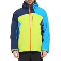 Custom wholesale two piece hiking climbing skiing windbreaker waterproof mens outdoor jacket