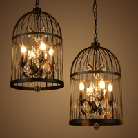 Industrial chandelier creative personality retro wrought iron lamps loft restaurant lights