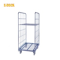 China Manufacturer Cargo Storage Detachable Foldable 2 Sided Logistic Equipment Galvanized Industrial Roll Container