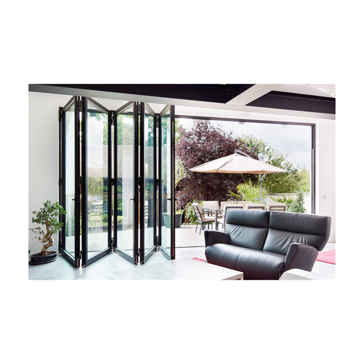 nice quality Aluminum Frame Bi-fold door used for AS2047 AS1288 AS2088 Certificate