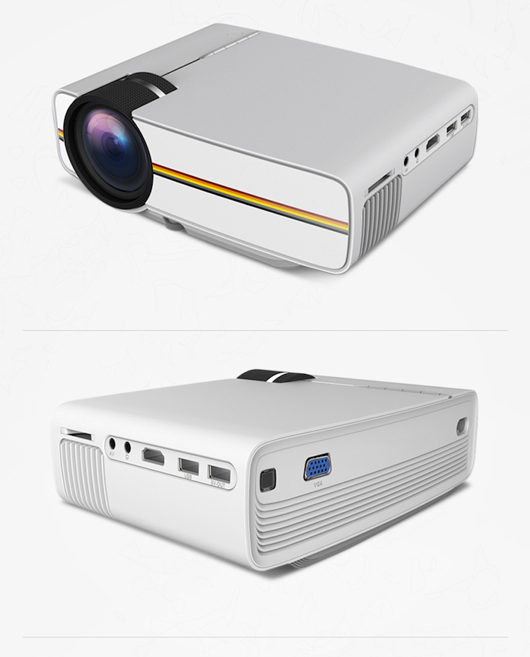 Cinema Multimedia Player Digital 1800 Lumen Wired Sync Display Movie VGA Portable Mobile Projector YG400