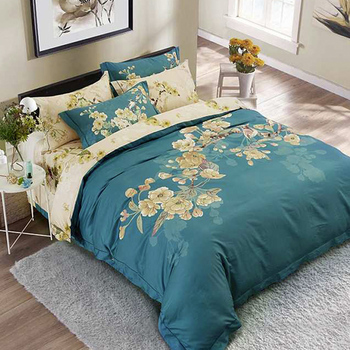 Customized Luxury Bedding Set Twin/Full/Queen/King Size 4 Pieces Bed Sheet Set