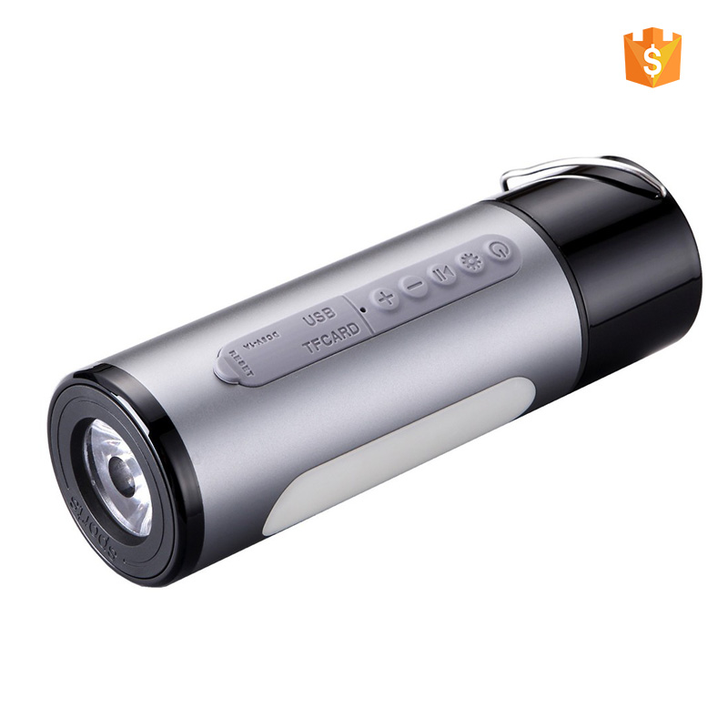 5w 4.1 version outdoor speaker waterproof powerbank speaker aluminum alloy case  player bicycle bike led light speaker