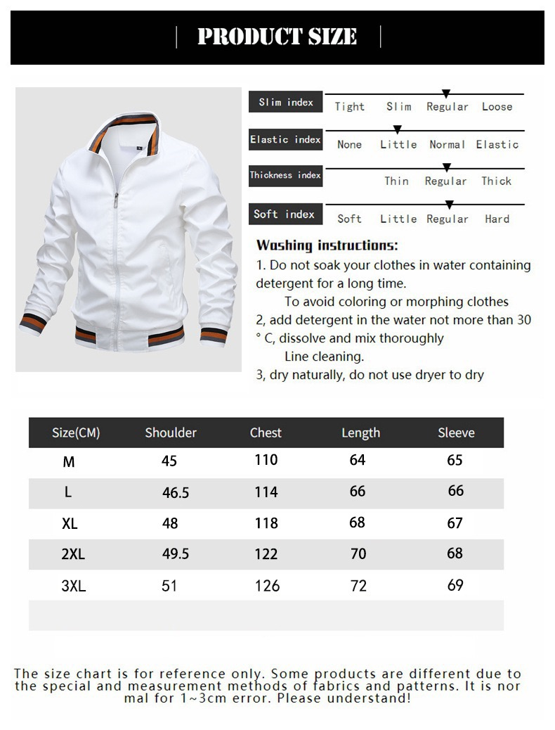 Hot Sales Casual Sports Men's Comfortable Plus size Jacket