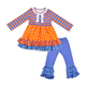 Hot Selling Girls' Boutique Fall Clothing Long Sleeve T-shirt+Ruffle Pants Sets