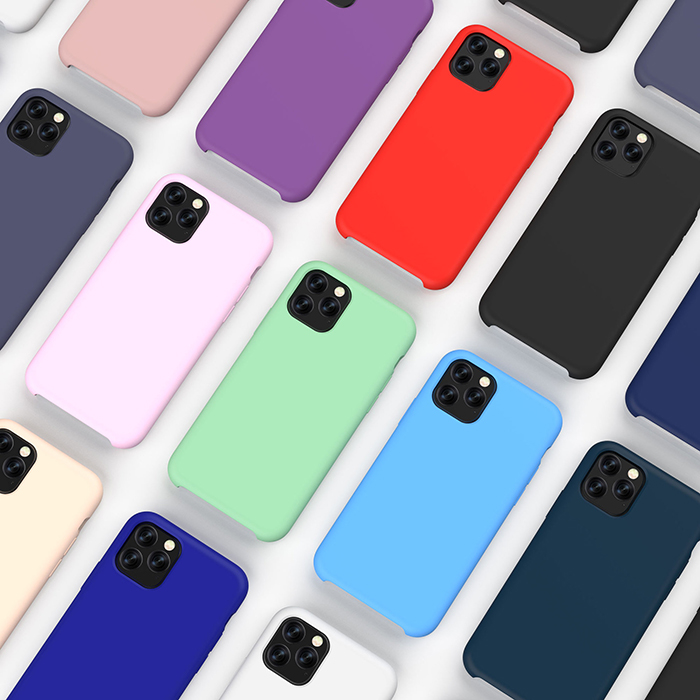 Heavy duty antigravity blank solid silicone rubber phone case for iphone 11 pro max
