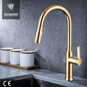 Luxury Gold Stainless Steel sink Kitchen Faucet for usa